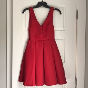 Red cutout cocktail dress NEW